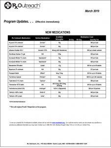 Drug Program Update