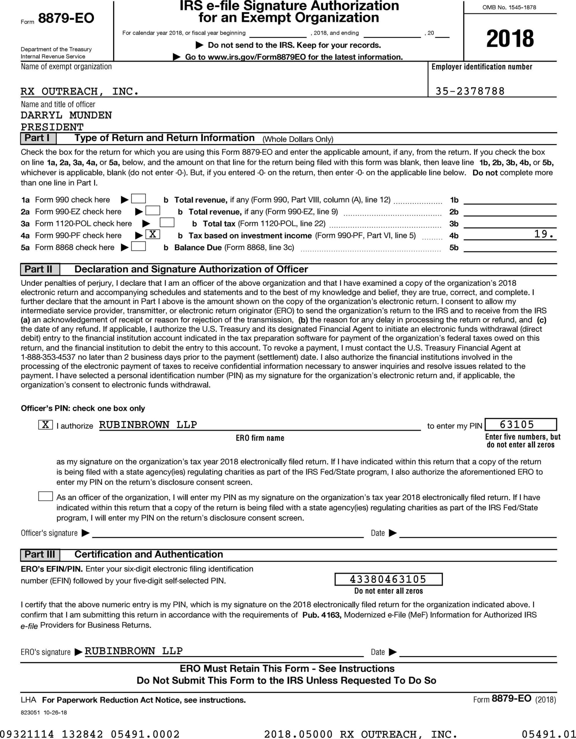 !2018 Form 990 RX OUTREACH INC-1