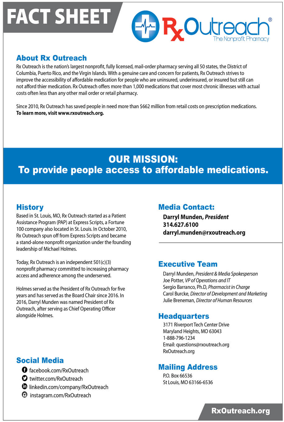 Rx Outreach Media Fact Sheet 2020-1