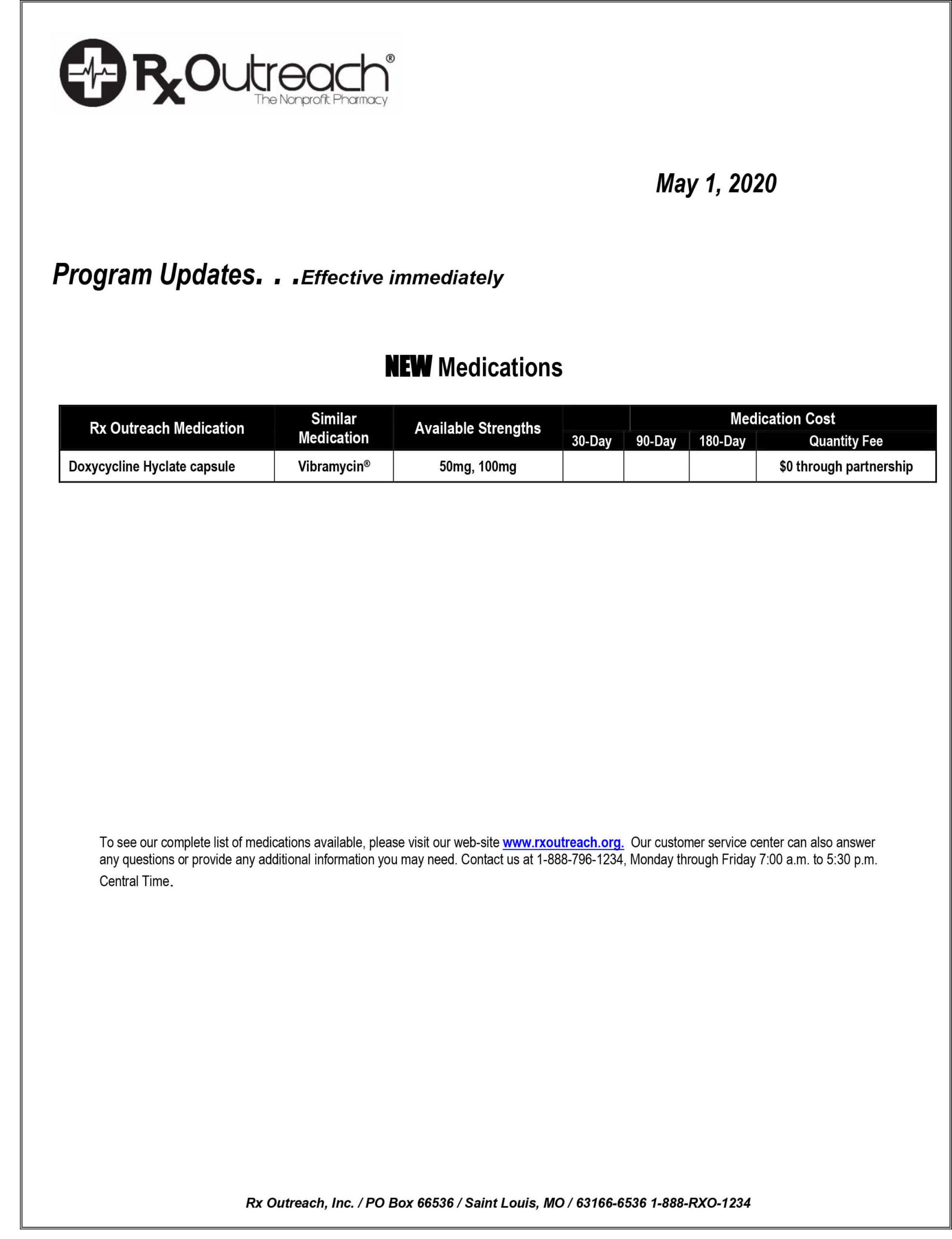 Drug Program Update 05